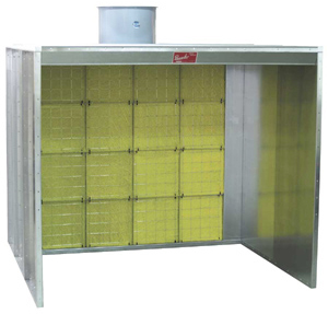 Paasche Model FABF Filter Booth Type Floor 7' High: 18' Wide