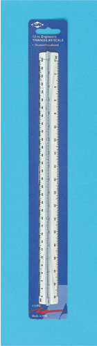 Alvin Series 110 Student/ Vocational Triangular Scale: Engineer 12 Inches Plastic, Carded