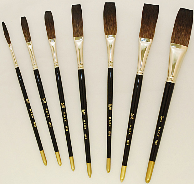 Mack Soft Stroke Lettering Brush Series 1992: Hair Lengths 1-3/4 inches, Size-3/4 inches