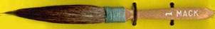 Mack Squirrel Hair Dagger Striper Series 30: Width of Head 7.93 mm, Size - 1