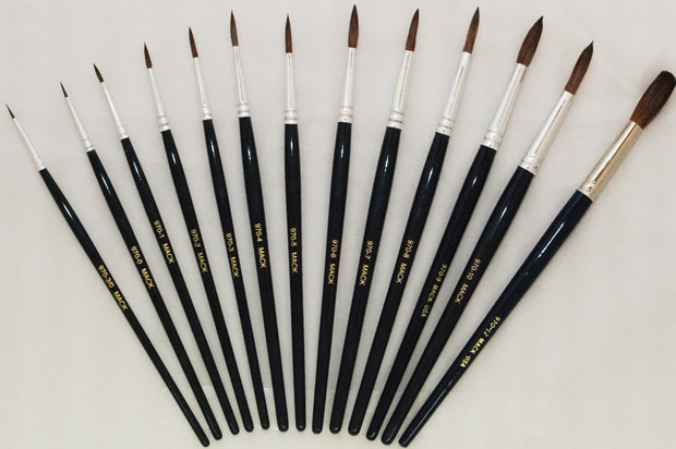 Mack Camel Hair Watercolor Brushes Series 970: Size-8