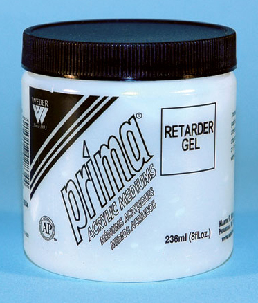 Prima Acrylic Gel Mediums - Retarder: 236ml, Jar