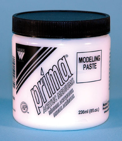 Prima Acrylic Gel Medium - Modeling Paste: 236ml, Jar