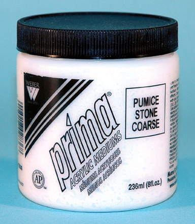 Prima Acrylic Gel Mediums - Pumice Stone Coarse: 236ml, Jar