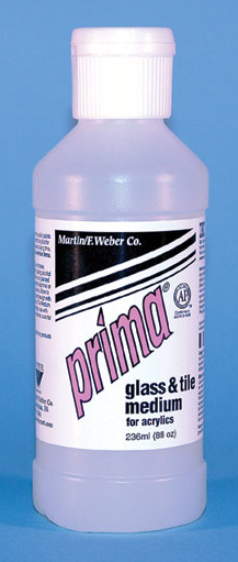 Prima Acrylic Liquid Glass & Tile Medium: 236ml, Bottle