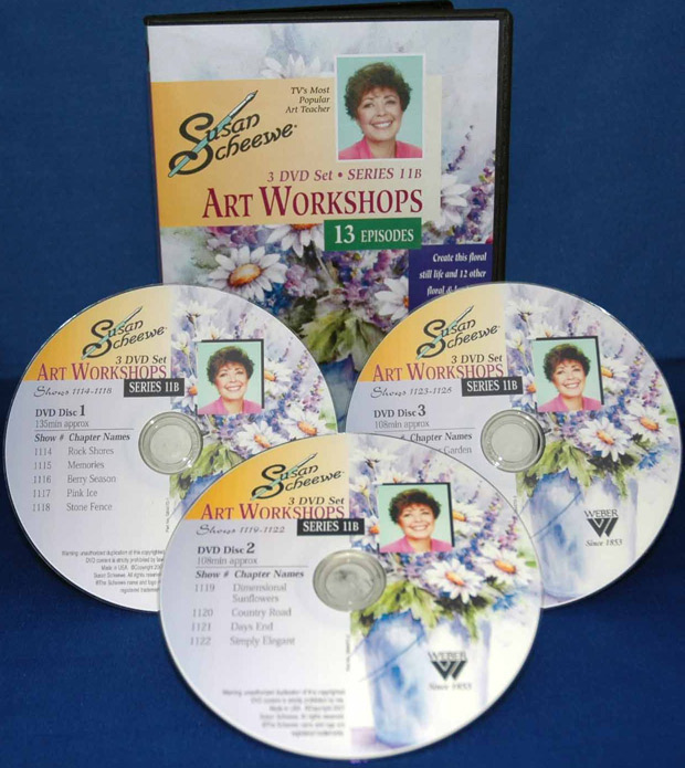 Scheewe Art Workshop: 3 DVD Set Series 11B, 13 Episodes