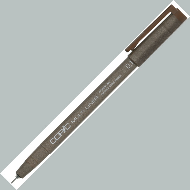 Copic Disposable Multiliner Pen: Brown, 0.3mm