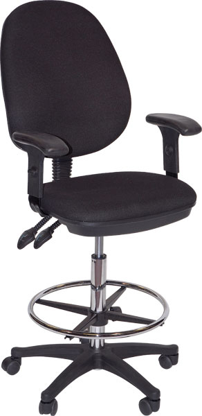 Grandeur Drafting Height Chair Black: Model # 91-02606115