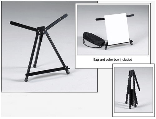 Angelina Aluminum Table Top Easel Black Model 92 Ae010