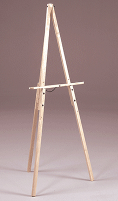 Prima Adjustable Art/Display Easel - Natural Finish: Model # U-280N