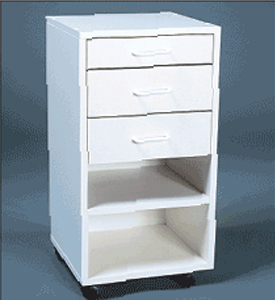 "Martin Modular Mobile Cabinet with 1 Standard Drawer (2.5""), 2 Deeper Drawers and 1 Fixed Shelf: Model # U-TA13W"