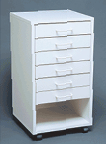 Mobile Cabinet I - Assembled: Model # U-TA6WS