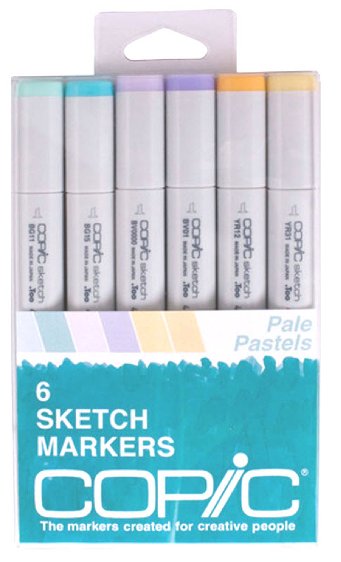 Copic Sketch Marker: Pale Pastels