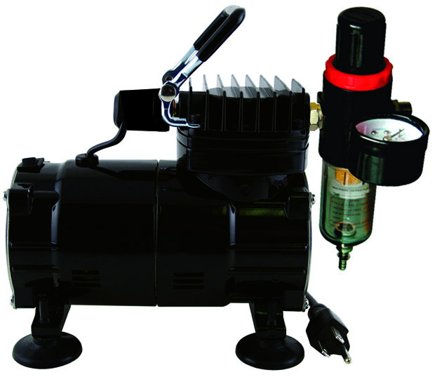 Paasche Model DA300R Air Compressor (1/8 hp.) with Auto Shutoff & Regulator