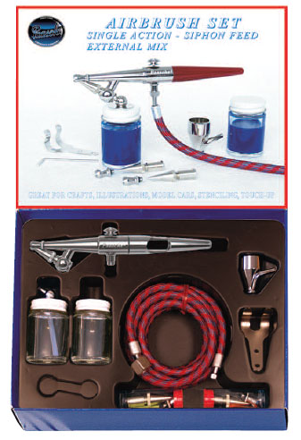 Paasche Model H202 Airbrush with Chrome Plated Brass Handle Set