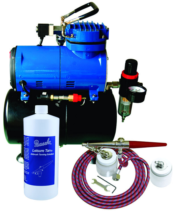 Paasche STS-1S Deluxe Tanning Set with D3000 Air Compressor (1/8 hp.)