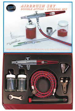 Paasche Model VLS-202S Double Action Airbrush with Metal Handle Set