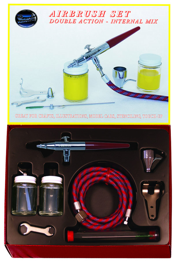 Paasche Model VV Left Hand Single Feed Airbrush Set