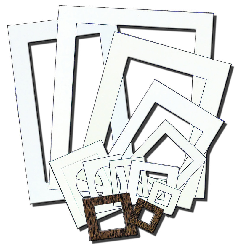 "Inovart Picture-It White Pre-Cut Art/Presentation Mat Frames - Fits Artwork 11"" x 20"" - 12 per pack"