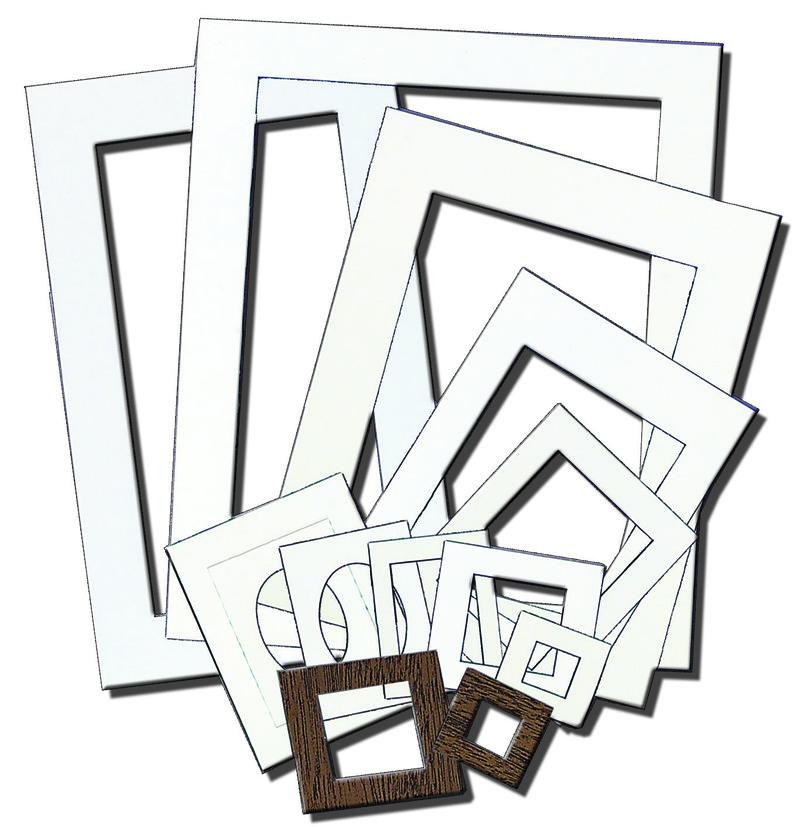 Inovart Picture-It White Pre-Cut Art/Presentation Mat Frames 9\