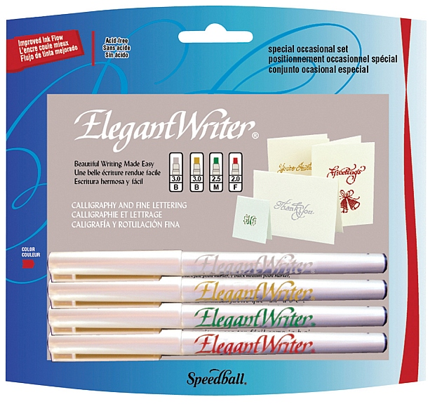 Speedball Elegant Writer Calligraphy Marker: 4-Color Set