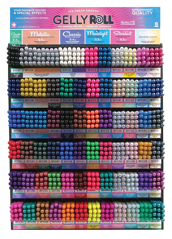 Sakura Gelly Roll Mega Display: 864 Pieces