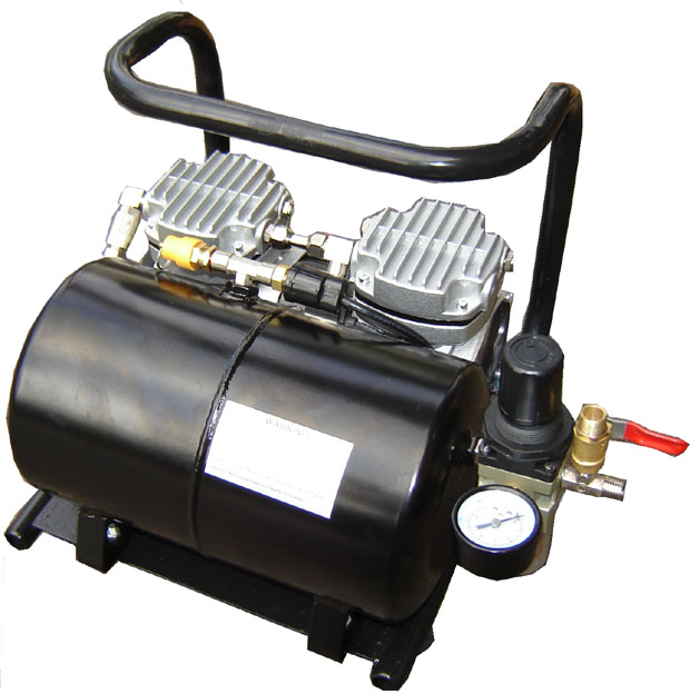 Silentaire Scorpion IIW-TT Ultra-Quiet Airbrush Compressor, Portable Air Compressor
