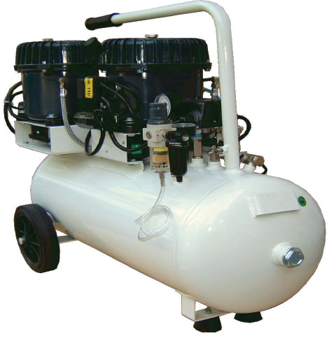 Silentaire Val-Air 150-50 AL Silent Running Airbrush Compressor: Oil Lubricated, Portable Air Compressor