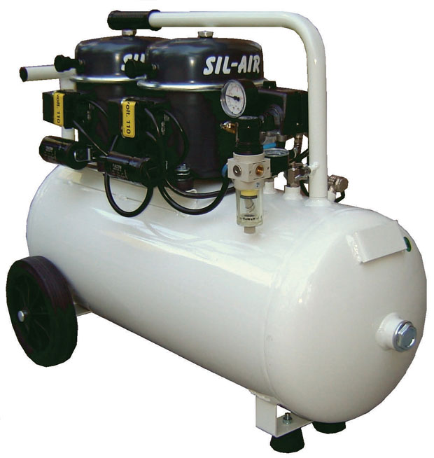 Silentaire Sil-Air 100-50 Silent Running Airbrush Compressor: Oil Lubricated, Portable Air Compressor