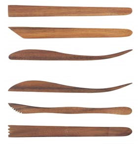 Sculpture House Acacia Wood 8 inches Tools: Set of 6