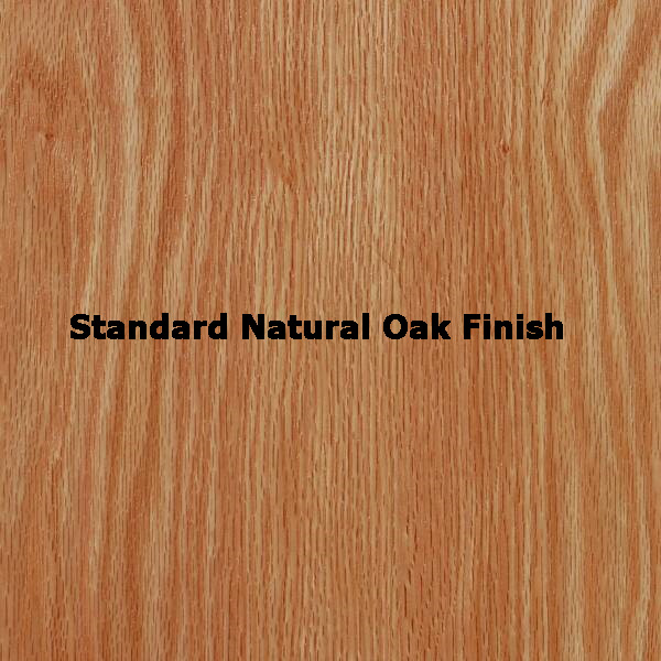 "SMI 24"" x 36\"" Oak Plan File: Standard Natural Finish"