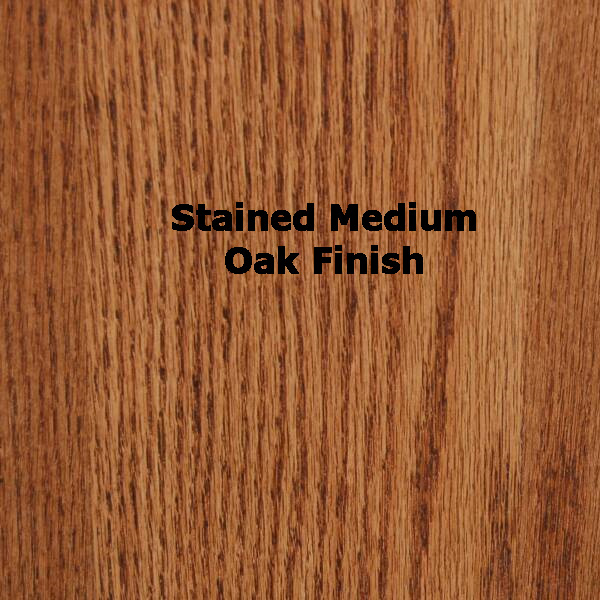 "SMI Stained Medium Oak Finish Bookshelf for 24"" x 36"" Oak Plan File"