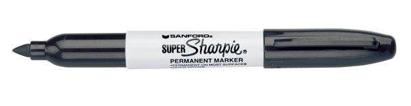 Sharpie Super Sharpie Bold Point Permanent Marker Black