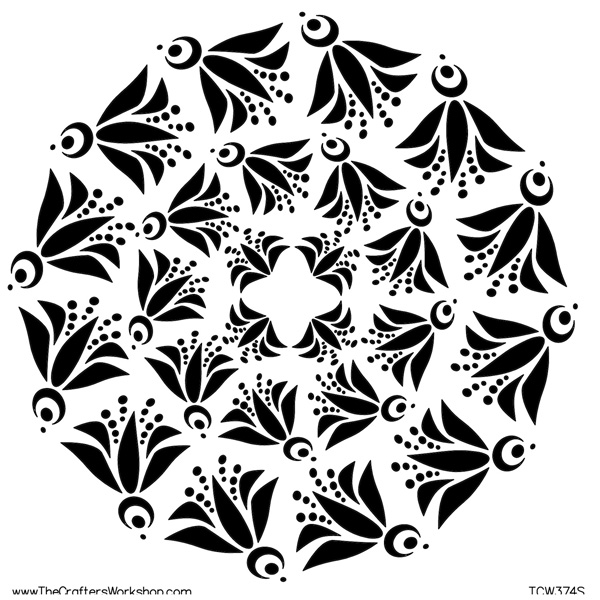 The Crafter's Workshop 6X6 TEMPLATE FLY BIRD DOILY