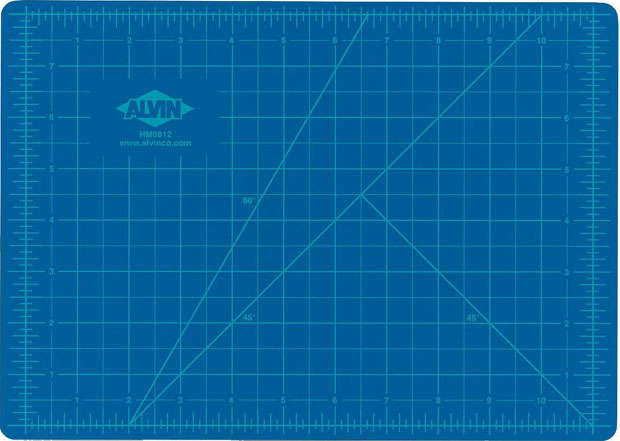 Alvin® Self-Healing Hobby Mat: Blue/Gray 18 X 24