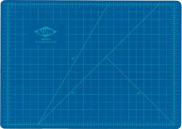 Alvin® Self-Healing Hobby Mat: Blue/Gray 8.5 X 12