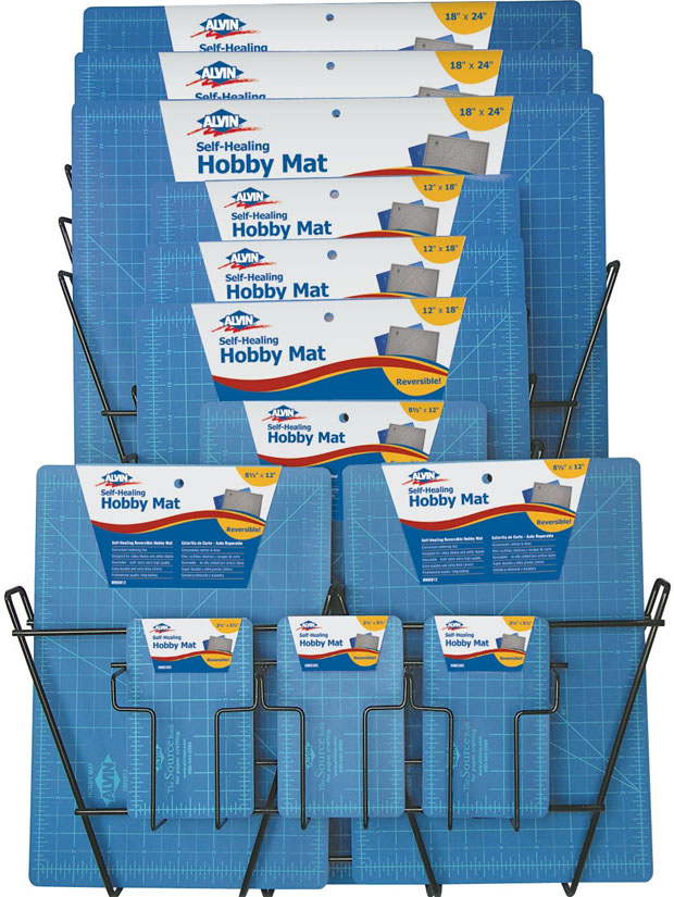 Alvin® Self-Healing Hobby Mat: Display Of 33
