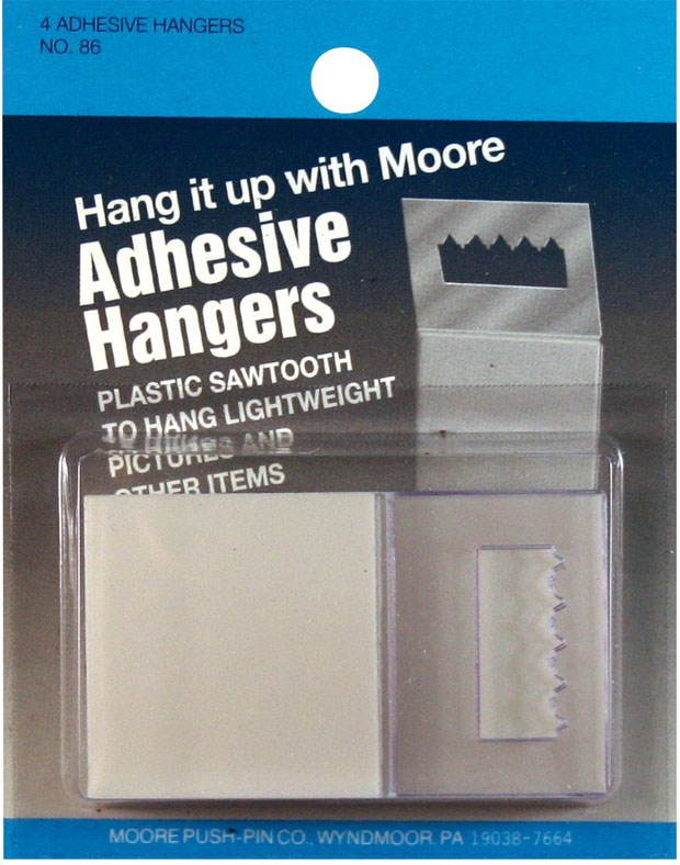 Moore Adhesive Hanger: Pack Of 4