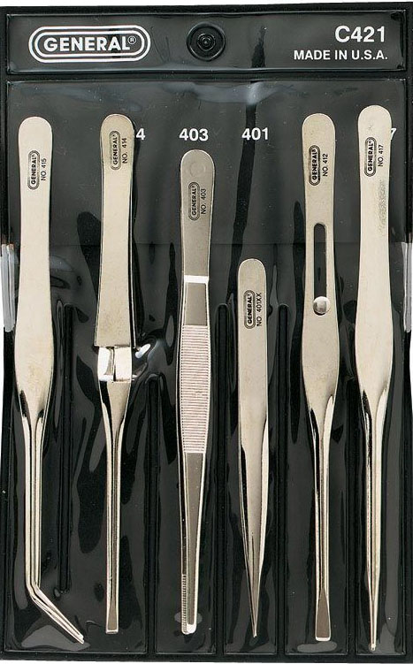 General® Tweezer Set: 6 Piece