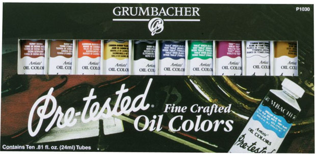 Grumbacher Pre-Tested® Oil Paint 10-Color Set