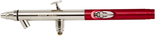 Badger Vega Series 2000 Dual Action Airbrush: Bottom Feed, Fine