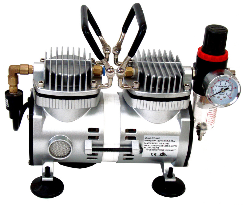 Inovart 1/6hp Double Piston, Oiless Mini Air Compressor, WAC 2000