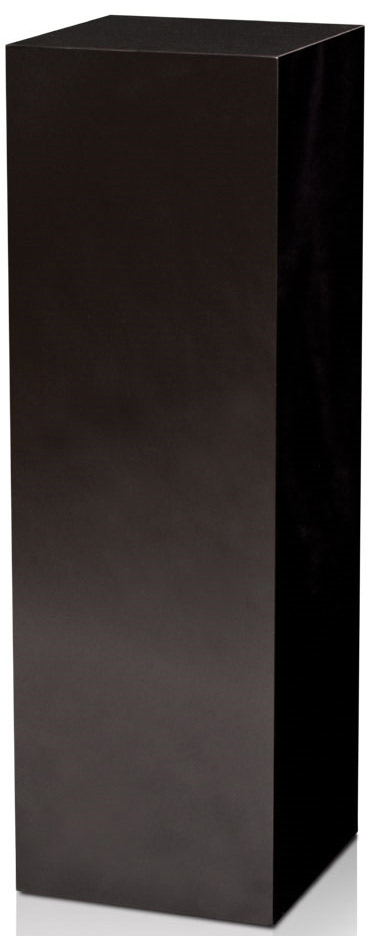 Xylem High Gloss Black Acrylic Pedestal: Size 11-1/2 x 11-1/2 inches, Height 24 inches