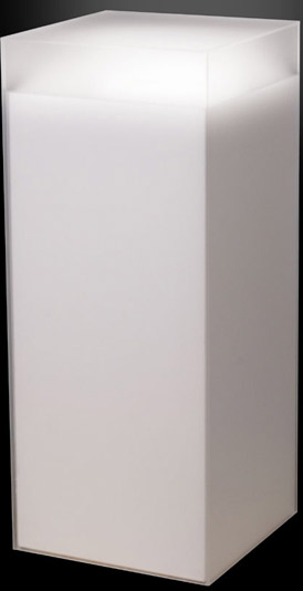 Xylem Frosted Acrylic Pedestal: Size 18 x 18 Inches, Height 18 Inches