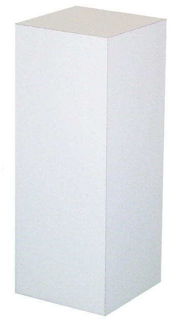 "Xylem White Laminate Pedestal: 36"" x 36"" Base, 12"" Height"