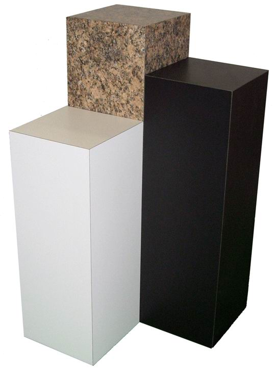 Xylem Black Laminate Pedestal: Small & Tabletop Sized, 21 Inch  Height