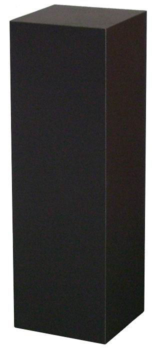 Xylem Black Laminate Pedestal: Small & Tabletop Sized, 13 Inch Height