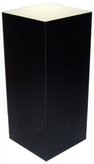 Xylem Lighted Black Laminate Pedestal: 18 x 18 inches Base, 36 inches Height