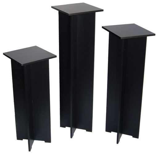 Xylem Quick Set Pedestal, Black: Single 11-1/2 x 11-1/2 Inches Body Size, 40 Inches Height