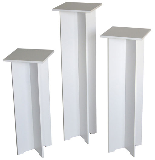 Xylem Quick Set Pedestal, White: Single, 11-1/2 x 11-1/2 Inches Body Size, 30 Inches Height